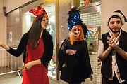 ERIN BLACK; SARAH HEFFERMAN; CHRISTOPHER MARGUEZ, Daniel Lismore birthday party. Whisky Mist, Hilton Park Lane, London. 19 December 2013