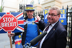 © Licensed to London News Pictures. 12/06/2019. London, UK. Mark Francois arrives at the official launch event for Boris Johnson's campaign to become Leader of the Conservative Party and the next Prime Minister. Photo credit: Rob Pinney/LNP