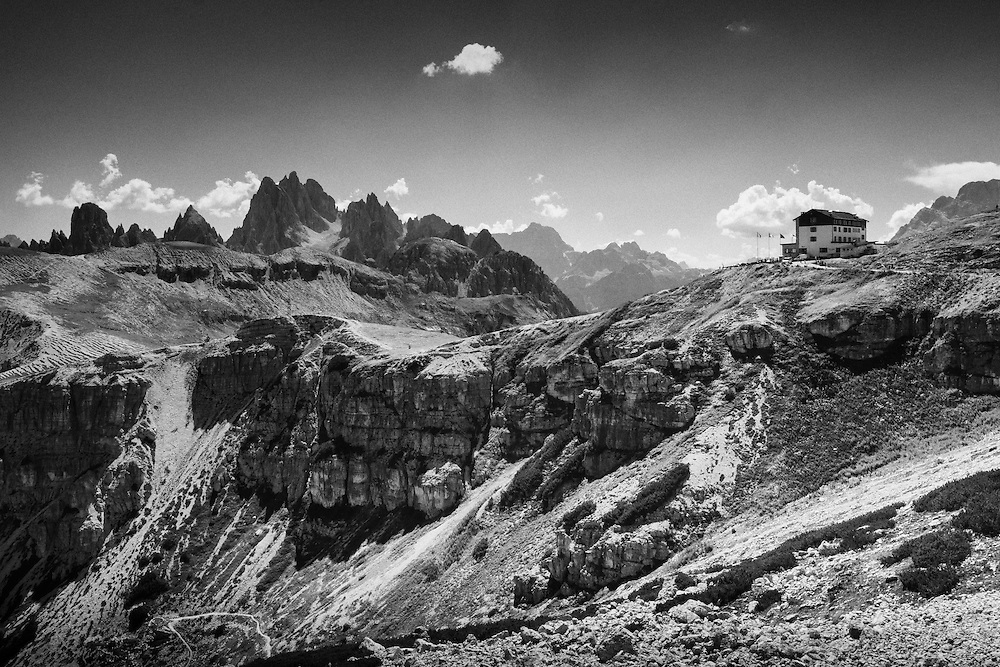 Rifugio Auronzo is one of the main starting points for exploring the Three Peaks of Lavaredo