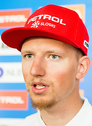 Klemen Kosi during press conference of Slovenian Men Alpine Ski Team before new season 2016/17, on September 27, 2016 in Generali, Ljubljana, Slovenia. Photo by Vid Ponikvar / Sportida