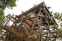 Gunstock Mountain Resort setting towers for Zip Line Adventures September 3, 2011.