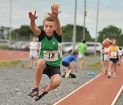 Aishling Fahy Halpin Westport taking part in Girls Under 14 Long Jump at the Mayo Commmunity Games finals in Claremorris.<br /> Pic Conor McKeown