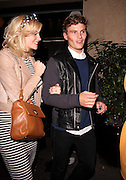 09.JUNE.2012. LONDON<br /> <br /> PIXIE LOTT AND OLIVER CHESIRE LEAVING CIRQUE DE SOIR NIGHT CLUB IN SOHO AT 5.00AM<br /> <br /> BYLINE: EDBIMAGEARCHIVE.CO.UK<br /> <br /> *THIS IMAGE IS STRICTLY FOR UK NEWSPAPERS AND MAGAZINES ONLY*<br /> *FOR WORLD WIDE SALES AND WEB USE PLEASE CONTACT EDBIMAGEARCHIVE - 0208 954 5968*