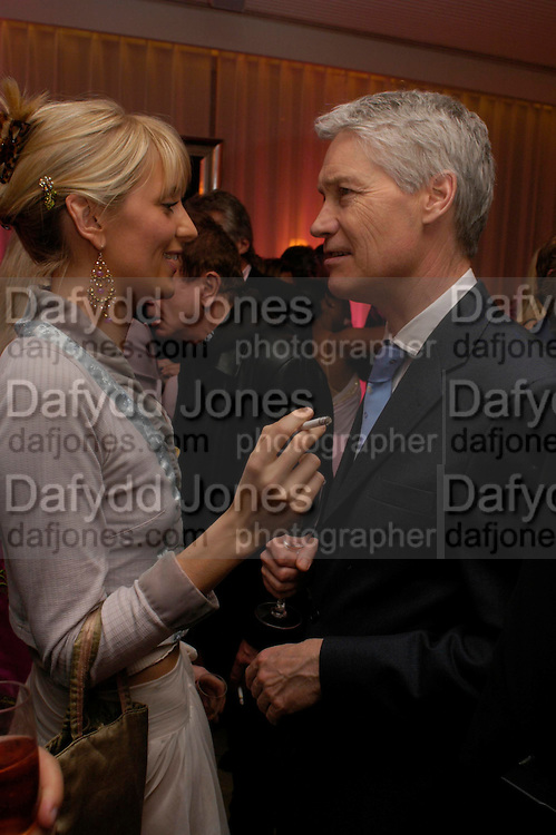 Lady Emily Compton and Richard Kay. The Laurent-Perrier Pink Party in aid of The Prince's Trust at the Sanderson Hotel on April 27, 2005. ONE TIME USE ONLY - DO NOT ARCHIVE  © Copyright Photograph by Dafydd Jones 66 Stockwell Park Rd. London SW9 0DA Tel 020 7733 0108 www.dafjones.com