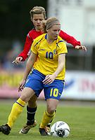 Fotball<br /> Landskamp J15/16 år<br /> Tidenes første landskamp for dette alderstrinnet<br /> Sverige v Norge 1-3<br /> Steungsund<br /> 11.10.2006<br /> Foto: Anders Hoven, Digitalsport<br /> <br /> Sanna Backman - Sverige