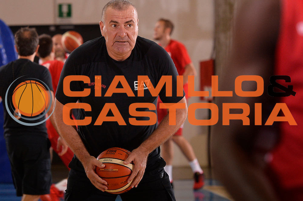 Jasmin Repesa <br /> EA7 Emporio Armani Olimpia Milano allenamento<br /> Lega Basket Serie A 2016/2017<br /> Bormio 03/09/2016<br /> Foto Ciamillo-Castoria