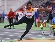 Rachel Fatherly competes in the shot put during the USA Indoor Track and Field Championships in Staten Island, NY, Sunday, Feb 24, 2019. (Rich Graessle/Image of Sport)