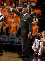 NC State head coach Sidney Lowe.  The Virginia Cavaliers men's basketball team defeated the North Carolina State Wolfpack 78-60 at the John Paul Jones Arena in Charlottesville, VA on February 24, 2008.