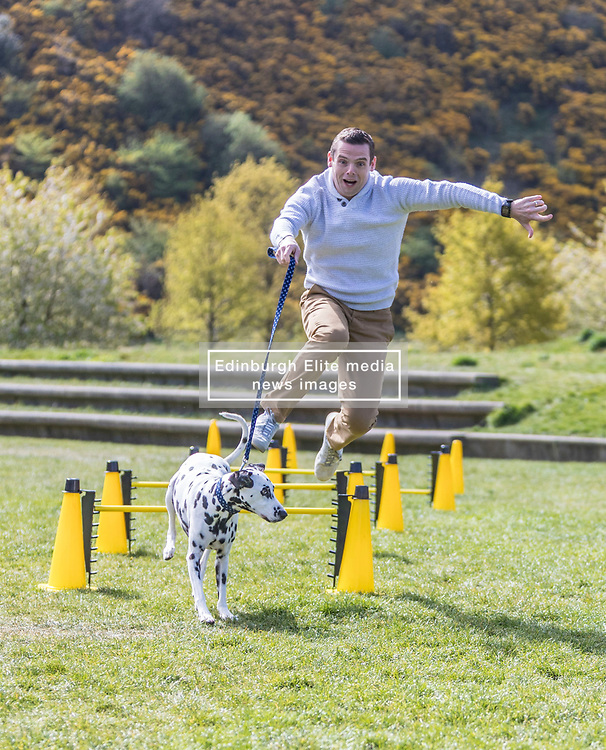 MSPs display their dogs and put them through an agility course with the winner decided by a public vote on the day.<br /> <br /> Pictured: Douglas Ross with his dog Maya