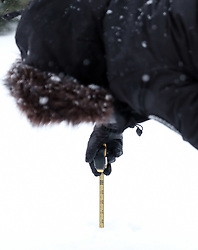 Beast From The East, 1st March 2018<br /> <br /> The heavy snow which keeps falling in central Scotland measured over 19 inches today<br /> <br /> Alex Todd   EEm
