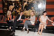 JESSICA ZAMBELETTI; LEOPOLDO ZAMBELETTI; ALLEGRA HICKS; ALLEGRA DONNE, Book party for Janine di Giovanni's Ghosts by Daylight. Blake's Hotel. South Kensington. London. 12 July 2011. <br /> <br />  , -DO NOT ARCHIVE-© Copyright Photograph by Dafydd Jones. 248 Clapham Rd. London SW9 0PZ. Tel 0207 820 0771. www.dafjones.com.
