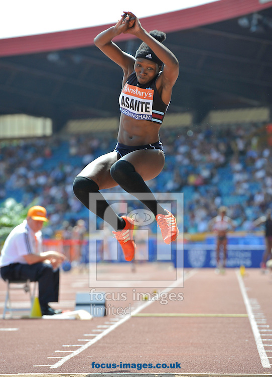 Picture by Alan Stanford/Focus Images Ltd +44 7915 056117<br /> 12/07/2013<br /> Zara Asante (GBR) Triple jump pictured during day two of Sainsbury's British Championship at Alexander Stadium, Birmingham.