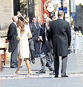 30.JULY.2011. EDINBURGH<br /> <br /> PRINCE WILLIAM AND CATHERINE DUCHESS OF CAMBRIDGE ARRIVING AT CANONGATE CHURCH IN EDINBURGH FOR THE WEDDING OF ZARA PHILLIPS AND MIKE TINDALL.<br /> <br /> BYLINE: EDBIMAGEARCHIVE.COM<br /> <br /> *THIS IMAGE IS STRICTLY FOR UK NEWSPAPERS AND MAGAZINES ONLY*<br /> *FOR WORLD WIDE SALES AND WEB USE PLEASE CONTACT EDBIMAGEARCHIVE - 0208 954 5968*