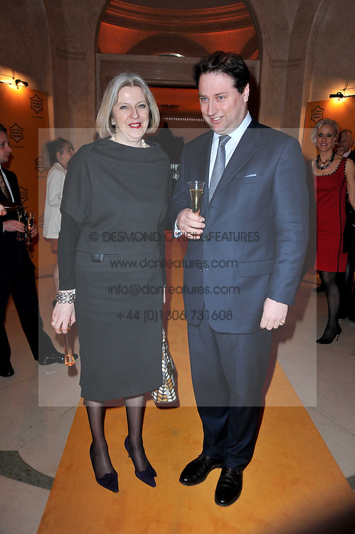The Home Secretary THERESA MAY MP and JO THORNTON Managing Director Veuve Clicquot UK at the 38th Veuve Clicquot Business Woman Award held at Claridge's, Brook Street, London W1 on 28th March 2011.