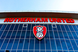 A general view outside of the Aesseal New York Stadium, home to Rotherham United - Mandatory by-line: Ryan Crockett/JMP - 18/01/2020 - FOOTBALL - Aesseal New York Stadium - Rotherham, England - Rotherham United v Bristol Rovers - Sky Bet League One