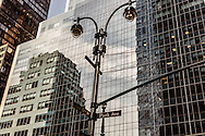 New York. mirror games on buildings on Madison avenue  New York - United States  / jeu de mirroir sur les immeuble de madisson avenue New York Manhattan - Etats unis