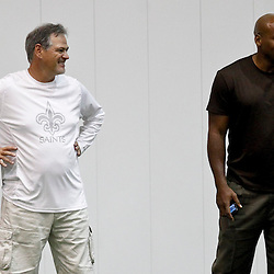 July 27, 2012; Metairie, LA, USA; XXXXX during training camp at the team's indoor practice facility. Mandatory Credit: Derick E. Hingle-US PRESSWIRE