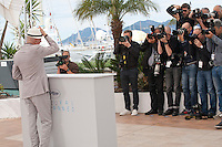 Director Jacques Audiard with press photographers at the Dheepan film photo call at the 68th Cannes Film Festival Thursday May 21st 2015, Cannes, France.