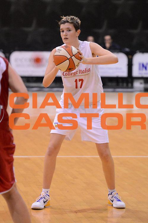 DESCRIZIONE : Roma Basket Campionato Italiano Femminile serie B 2012-2013<br />  College Italia  Gruppo L.P.A. Ariano Irpino<br /> GIOCATORE : Tosi Irene<br /> CATEGORIA : passaggio equilibrio<br /> SQUADRA : College Italia<br /> EVENTO : College Italia 2012-2013<br /> GARA : College Italia  Gruppo L.P.A. Ariano Irpino<br /> DATA : 03/11/2012<br /> CATEGORIA : palleggio<br /> SPORT : Pallacanestro <br /> AUTORE : Agenzia Ciamillo-Castoria/GiulioCiamillo<br /> Galleria : Fip Nazionali 2012<br /> Fotonotizia : Roma Basket Campionato Italiano Femminile serie B 2012-2013<br />  College Italia  Gruppo L.P.A. Ariano Irpino<br /> Predefinita :