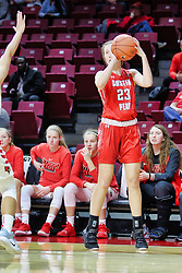 NORMAL, IL - December 04: Maggie Knowles during a college women's basketball game between the ISU Redbirds  and the Austin Peay Governors on December 04 2018 at Redbird Arena in Normal, IL. (Photo by Alan Look)