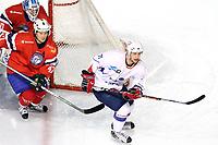 ICE HOCKEY - FRIENDLY GAME - FRANCE V NORWAY - LYON (FRA) - 11/11/2011 - PHOTO : EDDY LEMAISTRE / DPPI -  ANTHONY GUTTIG  (FRA) AND DENNIS SVEUM  (NOR)