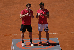 May 13, 2018 - Madrid, Spain - Nikola Mektic and Alexander Peya they win the final of men's doubles,  day nine of the Mutua Madrid Open tennis tournament at the Caja Magica on May 13, 2018 in Madrid, Spain. (Credit Image: © Oscar Gonzalez/NurPhoto via ZUMA Press)