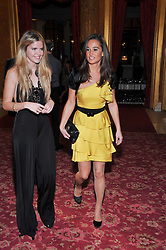 Left to right, KATIE REDMAN and PIPPA MIDDLETON at a party to celebrate 300 years of Tatler magazine held at Lancaster House, London on 14th October 2009.