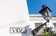 Vida street sign in Sevilla (Spain)