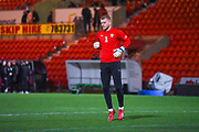 Adam Davies of Barnsley (1) warming up during the EFL Sky Bet League 1 match between Doncaster Rovers and Barnsley at the Keepmoat Stadium, Doncaster, England on 15 March 2019.