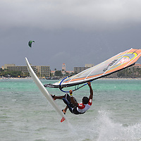 Second Day of the PWA Aruba . 2011 is the 25th edition of the event Hi Winds and adding to the celebrations is the PWA World Tour, making a stop on Aruba with its Freestylers and Slalom. Aruba Hi Winds Grand Slam Pro-AM. June 19-June 26, 2011.Jimmy Villalta & Valentina Calatrava