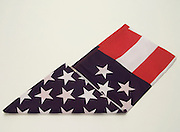 triangular folded American flag