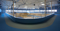 Architectural interior image of IDEA Charter School Gymnasium by Jeffrey Sauers of Commercial Photographics