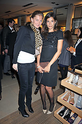 Left to right, ELIZABETH VON GUTTMAN and ASTRID MUNOZ at a party hosted by TOD's to celebrate the launch of the J.P.Loafer collection, held at the TOD's Boutique, 2-5 Old Bond Street, London on 31st March 2009.
