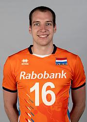 14-05-2018 NED: Team shoot Dutch volleyball team men, Arnhem<br /> Wouter ter Maat #16 of Netherlands