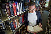 College Credit Plus student, Trevin Dutey, poses for a portrait at the Ohio University Southern campus library in Ironton, Ohio on September 29, 2016.
