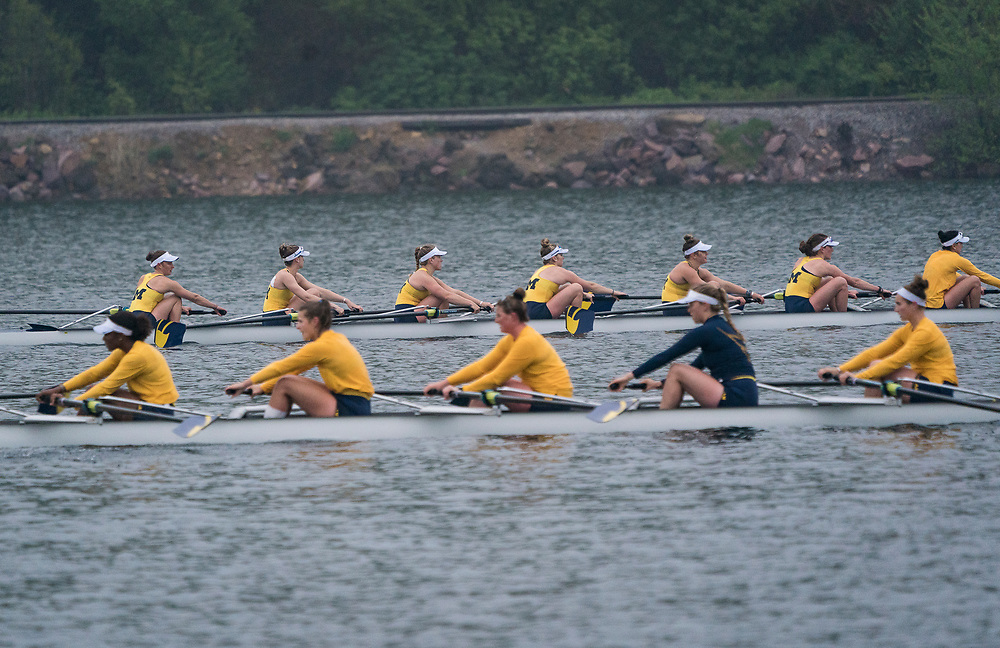 University of Michigan Women's Rowing competes in the NCAA Big Ten Championships in Lake Delton, Wisconsin, Sunday, May 19, 2019.