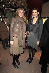 Left to right, CLAIRE ADLER and VIOLET FRASER at a party to celebrate the launch of a collection of jewellery by Tamara Ecclestoen for jewellers Moussaieff held at their store in New Bond Street, London on 9th December 2008.