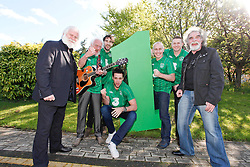 No Fee for Repro: .The Official Euro Republic of Ireland Song for Euro 2012 Tops the Irish Charts. .The Ray D'Arcy Show celebrated the No. 1 hit with 'The Rocky Road to Poland', rocked to the top of the Irish Singles Charts. Pictured celebrating are Dubliners John Sheehan and Eamonn Campbell with Danny O'Reilly (Corona's), Bressie, Ray D'Arcy and Damien Dempsey and Dubliner Patsy Watchorn. All profits from the single will be split between John Giles Foundation and Today FM's Shave or Dye, which has already raised over ?1.38 million this year for the Irish Cancer Society. Pic Andres Poveda..For further information, please contact:.Gill Waters.Today FM Press Office.Tel: 01-804 9047