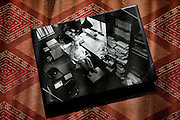 (En) Tokyo, November 2009 - In the house of Japanese writer Akira Yoshimura, near Kichijoji's Inokashira Park.<br /> An old picture of Yoshimura in his office.<br /> <br /> (Fr) Dans la maison de l'&eacute;crivain japonais Akira Yoshimura, pr&egrave;s du parc Inokashira dans le quartier de Kichijoji.<br /> Une vielle photo de Yoshimura  dans son bureau.