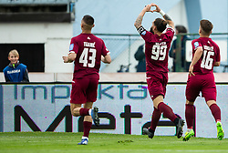 Luka Majcen of Triglav celebrates after scoring first goal during Football match between NK Triglav and NK Maribor in 25th Round of Prva liga Telekom Slovenije 2018/19, on April 6, 2019, in Sports centre Kranj, Slovenia. Photo by Vid Ponikvar / Sportida