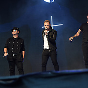 BOYZONE band Shane Lynch, Mikey Graham, Ronan Keating, Keith Duffy perform live at Kew The Music Festival 2018 on 14 July 2018, London, UK.