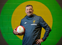 LIVERPOOL, ENGLAND - Wednesday, February 7, 2018: John Aldridge poses for a portrait during a media session at the Liverpool Academy ahead of the LFC Foundation charity match between a Liverpool FC Legends team and FC Bayern Munich Legends. (Pic by David Rawcliffe/Propaganda)