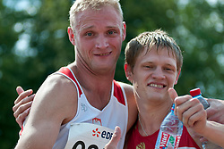 SHVETCOV Evgenii, MIELCZAREK Marcin, RUS, POL, 100m, T36, 2013 IPC Athletics World Championships, Lyon, France