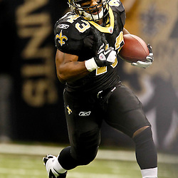 November 28, 2011; New Orleans, LA, USA; New Orleans Saints running back Darren Sproles (43) against the New York Giants during the second half of a game at the Mercedes-Benz Superdome. The Saints defeated the Giants 49-24. Mandatory Credit: Derick E. Hingle-US PRESSWIRE