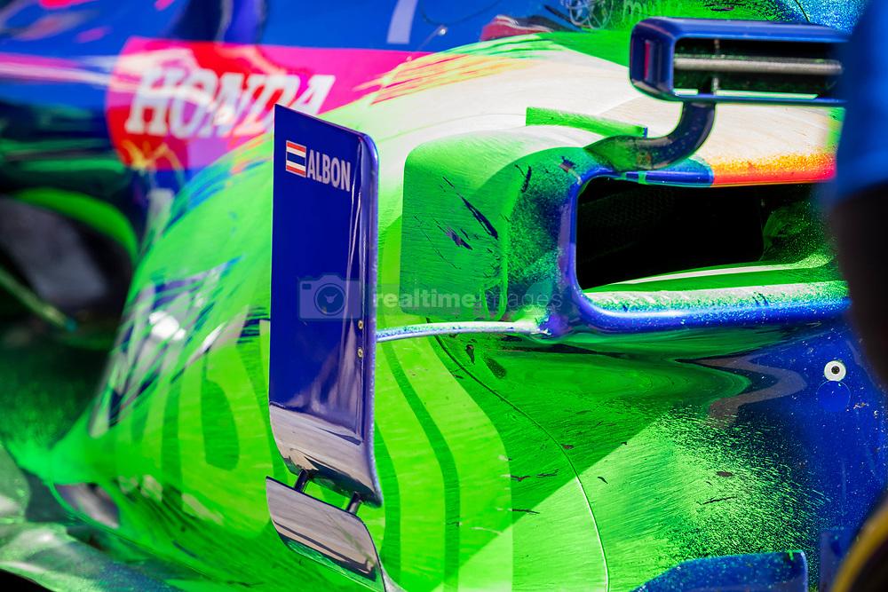February 19, 2019 - Barcelona, Spain - Detail of Alex Albon (Scuderia Toro Rosso Honda) with the new STR14 car during second journey of F1 Test Days in Montmelo circuit, on February 19, 2019. (Credit Image: © Javier MartíNez De La Puente/NurPhoto via ZUMA Press)