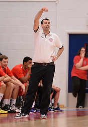 Bristol Flyers' coach, Andreas Kapoulas - Photo mandatory by-line: Alex James/JMP - Mobile: 07966 386802 - 28/03/2015 - SPORT - Basketball - Bristol - SGS Wise Campus - Bristol Flyers v London Lions - British Basketball League