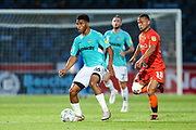 Forest Green Rovers Reuben Reid(26) during the 2nd round of the Carabao EFL Cup match between Wycombe Wanderers and Forest Green Rovers at Adams Park, High Wycombe, England on 28 August 2018.