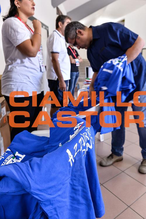 Consegna Magliette<br /> Nazionale Italiana Maschile Senior - Sardegna a Canestro 2017<br /> Italia - Turchia Italy - Turkey<br /> FIP 2017<br /> Cagliari, 13/08/2017<br /> Foto L.Canu / Ciamillo-Castoria