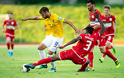 Mustafa Nukić of Bravo vs Stanley Amuzie of Aluminij during football match between NK Bravo and NK Aluminij in 5th Round of Prva liga Telekom Slovenije 2019/20, on August 9, 2019 in Sports park ZAK, Ljubljana, Slovenia. Photo by Vid Ponikvar / Sportida