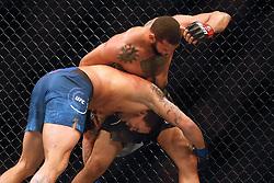 September 23, 2018 - Sao Paulo, Sao Paulo, Brazil - Sao Paulo, Sao Paulo, Brazil - Sep, 2018 - Fighting between fighters THIAGO MARRETA (BRA) - the winner - and ERYK ANDERS (USA) during UFC Fight Night Sao Paulo, this Saturday (22), at the Ibirapuera gymnasium in São Paulo. (Credit Image: © Marcelo Chello/ZUMA Wire)